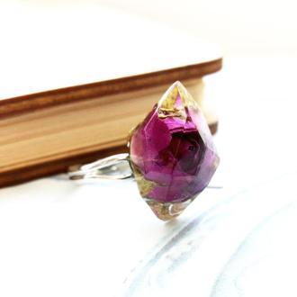 Кольцо с цветком розы