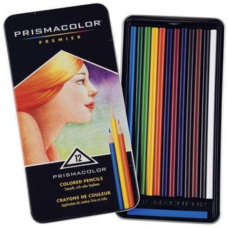 Набор мягких цветных карандашей 12 шт PRISMACOLOR