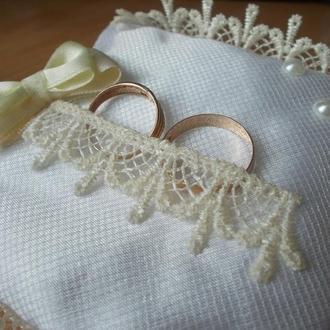 Подушечка для свадебных колец №2