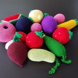 Вязаные Мягкие Игрушки Овощи Из Ткани Вязанные Овощи Крафт Приятные На Ощупь Для Детей