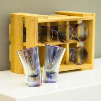 Набор голографических пьяных рюмок для текилы