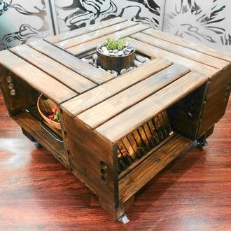 Журнальный стол в стиле лофт, индастриэл