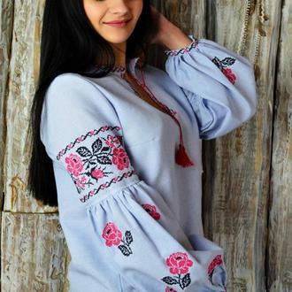 Женская вышитая блуза UA-01