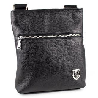 Мужская кожаная сумка-планшет Crez-301 (черный флотар)
