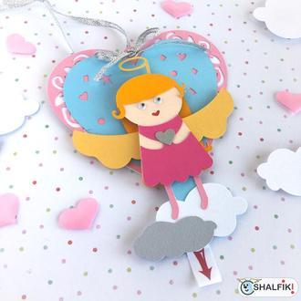 """❤ """"Мой ангел Блондинка"""" механическая валентинка - сердце"""