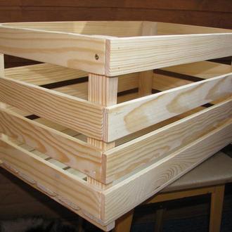 Ящик деревянный для декора, игрушек и прочего