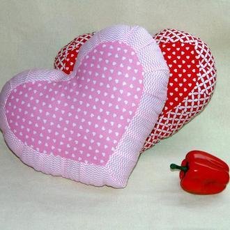 Декоративная  подушка РОЗОВОЕ СЕРДЦЕ