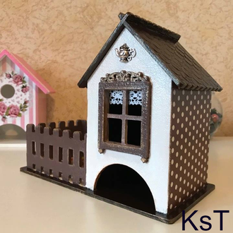 Чайный домик с двориком - конфетницей.