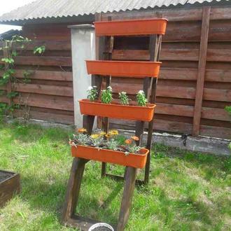 Подставка-лестница для ящиков под растения