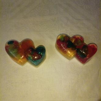 Мыло-《аквариум》 《Двойное сердце》