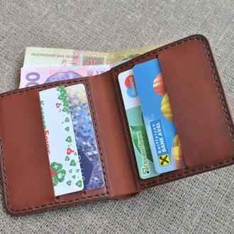 Компактный кошелек из натуральной кожи K61-210