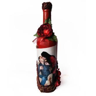 Сувенирная бутылка с Вашим фото на заказ Подарок на 14 февраля день влюбленных