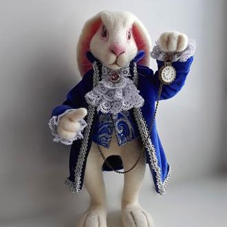 Алиса в стране чудес Белый кролик валяный