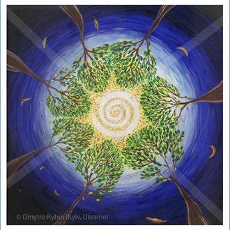 Картина Галло. Вселенная. Принт А3 или цифровой. Постер. Оформление помещения