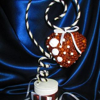 """Топиарий кофейный """"Подарок любимым"""", валентинка, деревце счастья"""