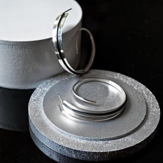 """Серебряные серьги-кольца """"Паруса"""""""