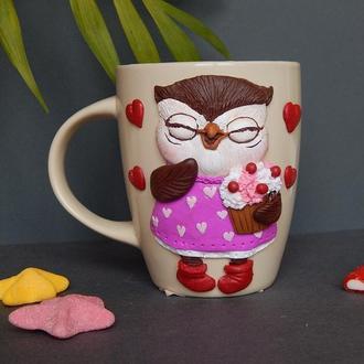 Чашка Сова-сладкоежка