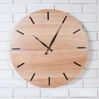 Настенные часы из дерева Dabo Classic Ø60 - Natural&Black