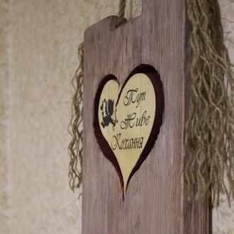 3d панно в стиле лофт из дерева