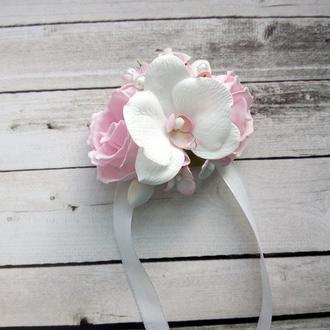 Браслет с цветами из фоамирана