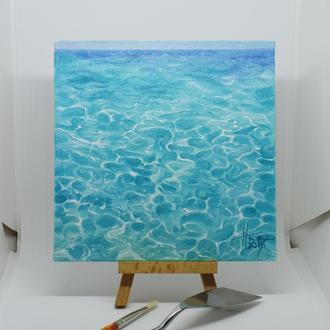 "Картина маслом ""Лазурный океан"""