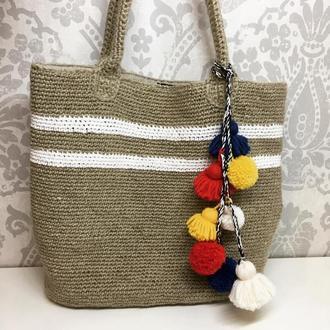 В'язана пляжна сумка
