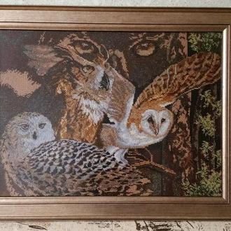 """Картина з бісеру """"Погляд сови"""""""