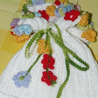 шапочка для девочки Букетик