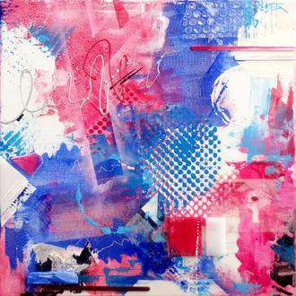 """""""Полиэтилен"""". Акриловая живопись на холсте, абстракция, 40 х 40 см"""