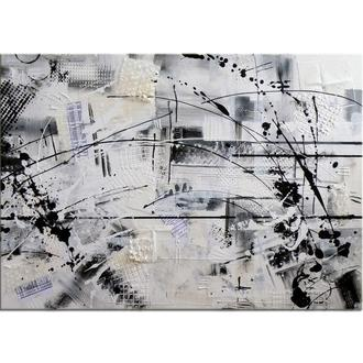 """""""К черту логику"""". Абстрактная живопись холст/акрил, абстракция, готовая картина, 50 х 70 см"""