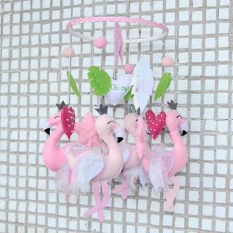 "Мобиль ""Розовый фламинго"""