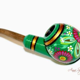 Деревянная курительная трубка ручной работы.