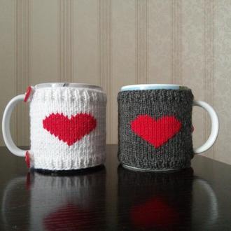 декоративная грелка на чашку, подарокдля неё, подарок для него, подарок для мамы, подарок для друга,