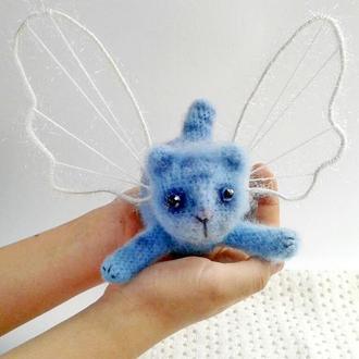 Кот ангел крючком