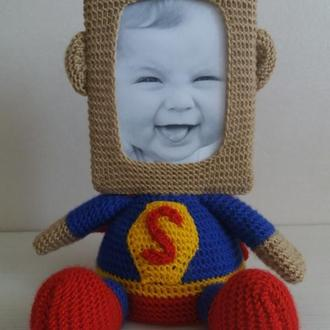 Фоторамка Супермен мягкая игрушка