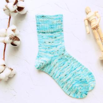 Вязаные носки Снежный барс (носочная пряжа)