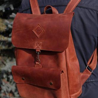 Кожаный рюкзак. Эксклюзив!