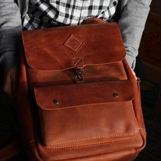 Винтажный кожаный рюкзак