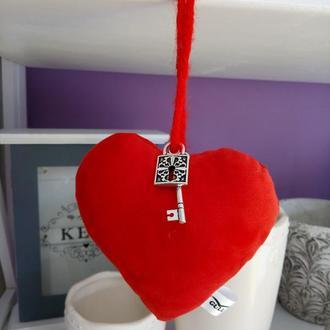 Сердце с подвеской ключ/замок 12*12*5см