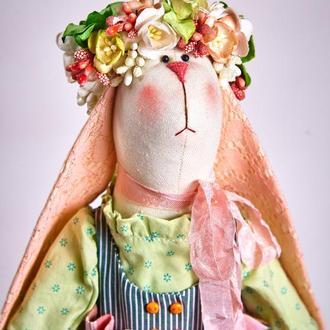 Кролик тильда Персиковая Флори