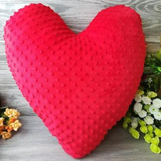 Подушка плюшевое сердце большое