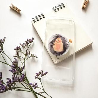 Чехлы на телефон с акварельными иллюстрациями - подарок на 14 февраля - подарок на день влюбленных