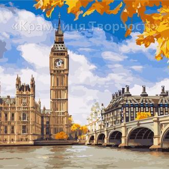 Картина по номерам Осенний Лондон, 40х50см. (КН2134)