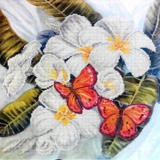 Набор для вышивания бисером Бабочки, 30х40см. (ВБ 1041)