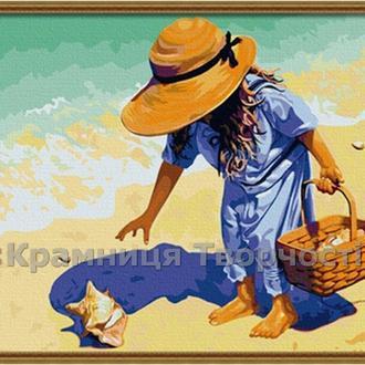 """Картины на холсте по номерам """"На берегу"""", 40х50см. (G019, MG037, КН037)"""