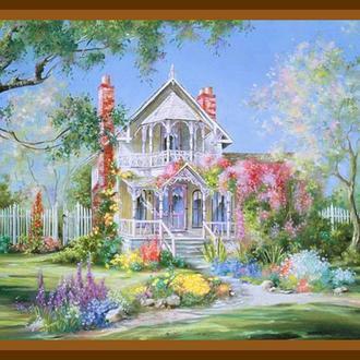 """Роспись картины на холсте по номерам """"Волшебный сад"""", 40х50см. (MG299, КН299)"""