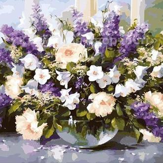 Картина по номерам 'Большой букет в стеклянной вазе-2', 40х50см (КНО1050)