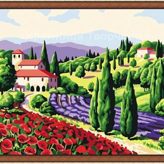 Картина по номерам 'Приглашение в Прованс', 40х50см (КНО083)