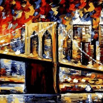 """Картины по номерам без упаковки """"Бруклинский мост"""", 30х50см (КНО2138)"""