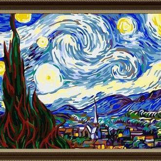 """Картины по номерам без упаковки """"Ночь"""", худ. Ван Гог, 40х50см (КНО124)"""
